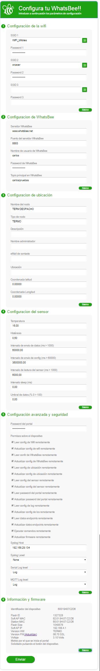 Configuracion Avanzada de Whatsbee